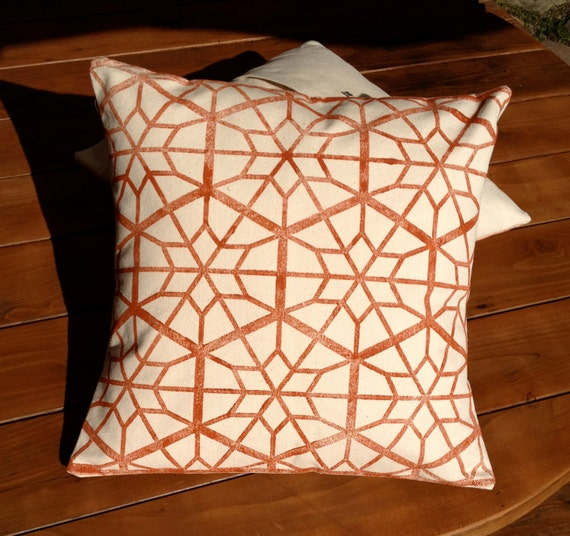 Rustic Decorative Pillow Covers : Rustic Red Pillow Cover Red Star Decorative Pillow by MacAndLexie