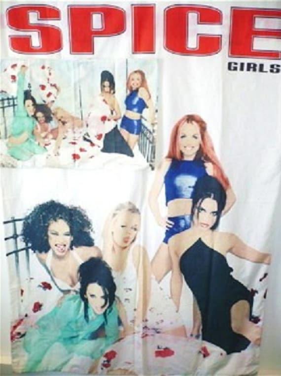 Vintage 90s Retro Girl Power Spice Girls Bedding Single Duvet