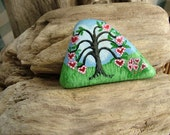 Tree of Hearts - Hand Painted on Beach Stone