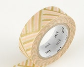 Washi Tape, Japanese, MT, Gold, Peach