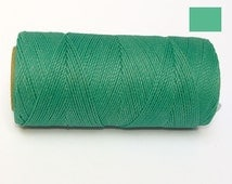 Jewelry Cord - Waxed Polyester Cord - Macrame Thread - GREEN TURQUOISE - 10 yards