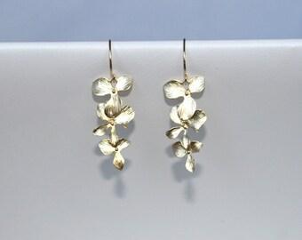 Orchid  earrings, Bridesmaid earrings