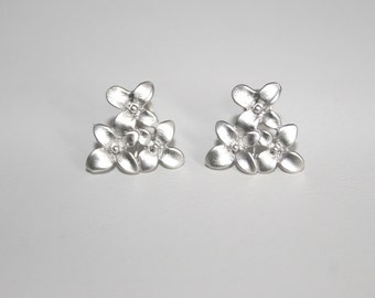 Dainty Cherry blossom post earrings