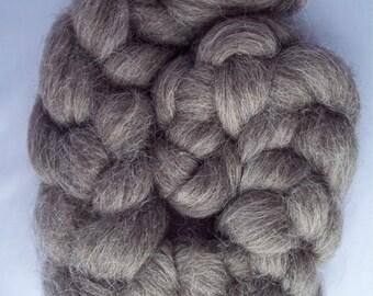Brown/Grey Masham Spinning Fiber, Top Roving 100g / 3.5oz, British Wool