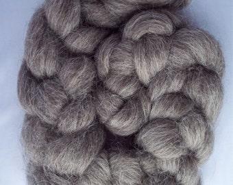 Grey Masham Spinning Fiber, Top Roving 100g / 3.5oz, British Wool