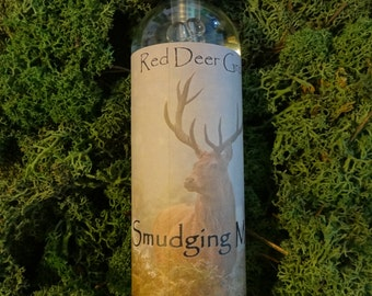 Red Deer Grove Smudging Mist 4 oz. White Sage Mist, Smudging Mist, Hippie Gift, Ceremony Spray, Home Blessing Spray