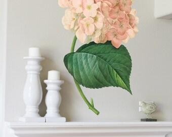 41in Hydrangea  - Flower Wall Sticker Decal