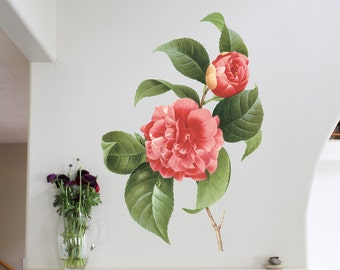 43in Camellia - Flower Wall Sticker Decal