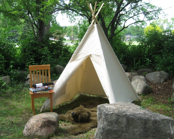 Canvas Teepee Tent Kids Tent Play Tent 14 Canvas Color