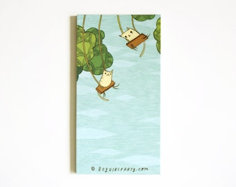 Cat Tree Notepad - Unique Pet Stationery, handmade, illustrated cat paper recycled