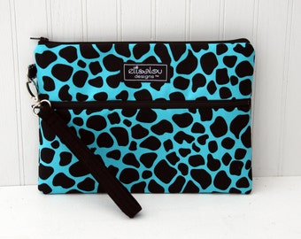Kindle / iPad Mini / Nook / eReader / Padded Pouch / Bag / Wristlet- Animal