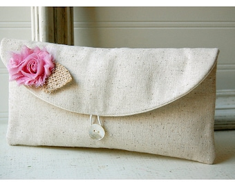 pink burlap orchid, black, gold clutch, rose Floral Clutch, gray, Spring Wedding Clutch, Bridesmaid Gift, Bridesmaid Clutch, Makeup Bag