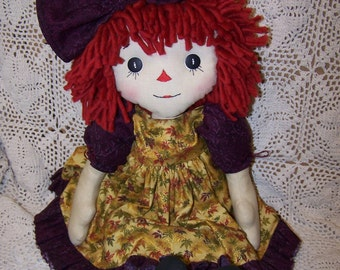 PDF/Primitive Raggedy Autumn Annie Folk Art Doll Pattern ET