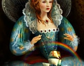Queen Elizabeth I Print   8X10   Tudor Queen Art History poster sir francis drake by Meluseena