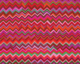 Kaffe Fassett Zig Zag Warm Red Fabric 1 yard