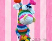 Crochet toy Amigurumi Pattern - Rainbow Giraffe.