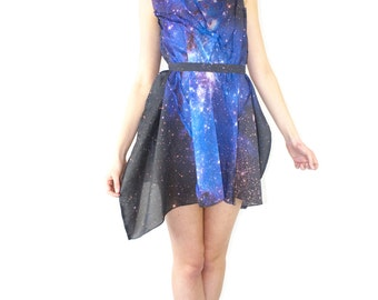 SAMPLE SALE. Blue Galaxy Space Dress