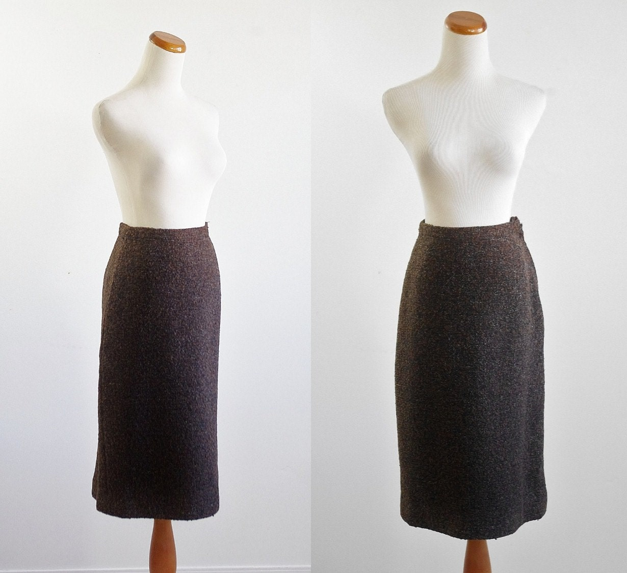 vintage 50s skirt 1950s pencil skirt small by mituvintage