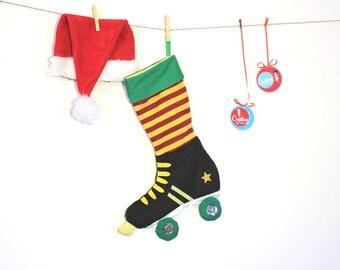 Roller Skates Christmas Stocking- Funky Christmas Decor