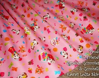 Panda & Friends Candies, Gummies and Gumballs Kawaii Lolita Skirt - ANY SIZE