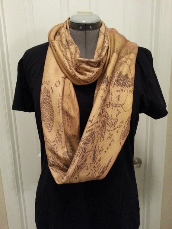 Lord of the Rings Middle Earth Infinity KNIT scarf - made to order