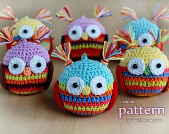Crochet Pattern - Christmas Ball - Owl (Pattern No. 018) - INSTANT DIGITAL DOWNLOAD