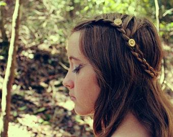 Demeter // sunflower hair bobbies, set of 2