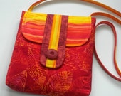 Cross body iPad Purse, Tablet Case, Bright Cherry Red Orange Pink Yellow, Travel Shoulder Bag Messenger Handbag, Hipster Sling - AlasKase