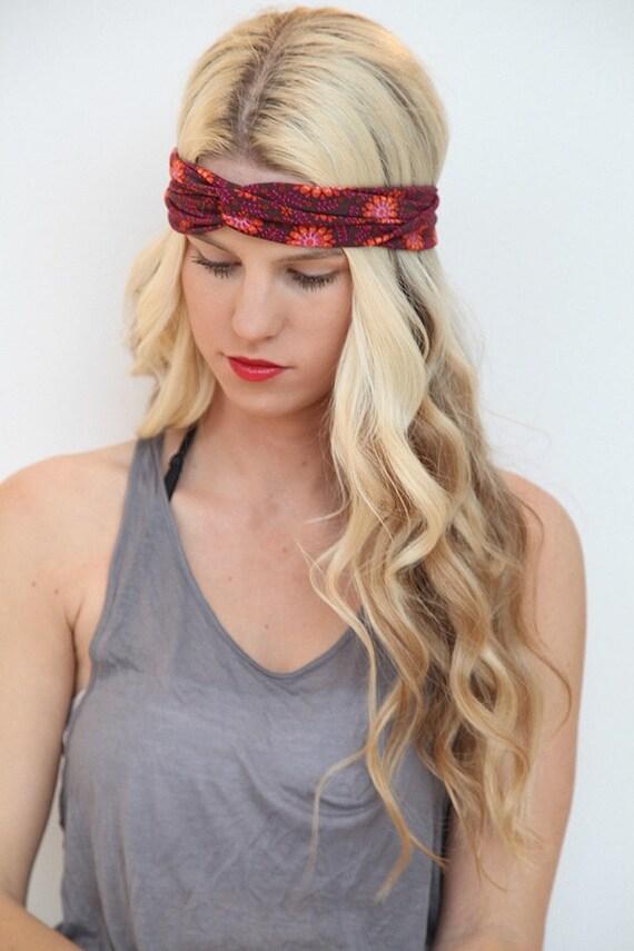Stretchy Headband Woman's Summer Hair Accessory Bohemian Style Knot Turban