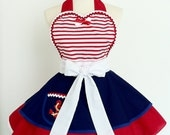 SALE- Pin up Girl Sailor Apron