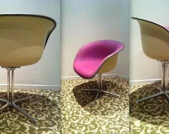 EAMES LA FONDA Alexander Girard Purple Pin Check upholstery fabric original vintage rare Herman Miller collectible chair La Fonda del Sol