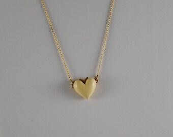 Heart Necklace Vintage Heart Pendant 1960s