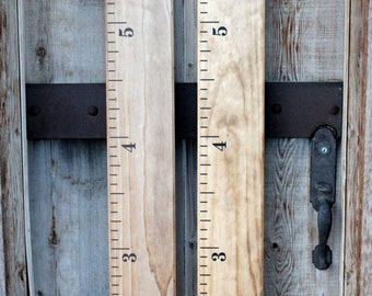 Hand-stained Wooden Growth Chart Ruler Vintage design - Traditional style - Smaller #s
