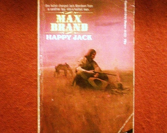 Happy Jack by Max Brand 1972 Paperback Library Vintage Western Action Adventure