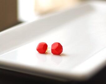 Poppy Geometric Stud Earrings - Geo Earrings - Simple - Minimalist - Modern - Lightweight