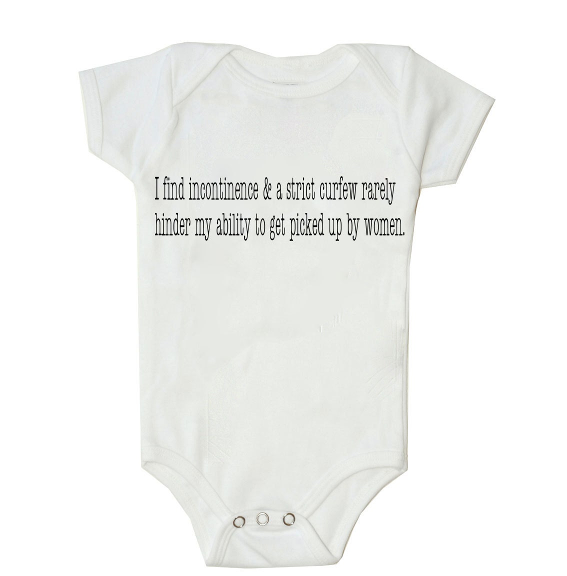 Incontinence and Strict Curfew Funny bodysuit or shirt for