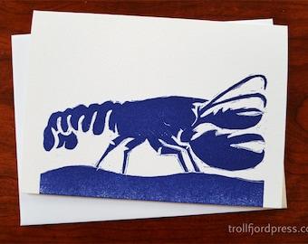 Blue Lobster Notecard