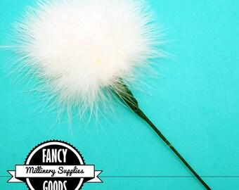 Ivory - Feather Pom Pom Pick - Marabou - Ostrich Feather - Pom Pom - Poof - Millinery - Bouquets