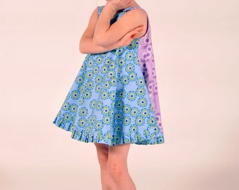 Girl's A-Line Swing Dress, Jumper Dress, Girl Dresses, Girl Clothing, Sleeveless, Toddler dress, Pinafore Dress, size 2 3 4 5 6