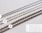 Stainless Steel Chain (Add-On Only)