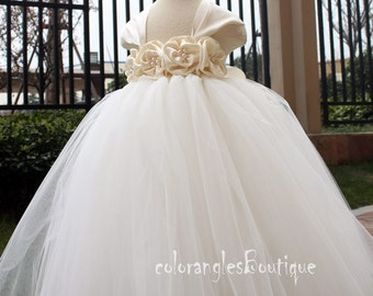 On Sales Flower girl dress cap sleeves chiffton roses flower girl dress 1T 2T 3T 4T 5T 6T 7T 8T 9T