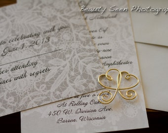 Invitation Lovee For Wedding Paper Suite, Custom Color, 1pc