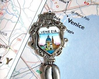 Silver Souvenir Spoon from Italy, Venice, Venezia.    ID 064