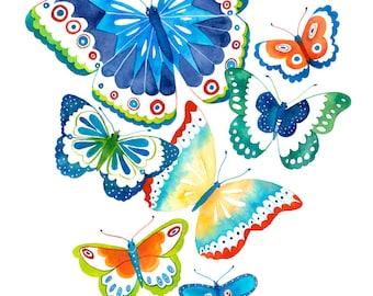 Butterfly print -  Spring Flutter