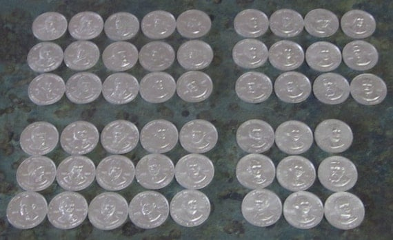 Vintage Shell Oil Mr. President Coin Game Coins or Tokens Qty of 51