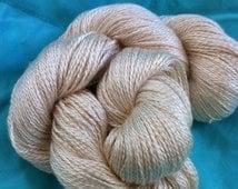 FINGERING Spun Silk 2 Ply Undyed Yarn, Dye Free Fingering  Weight Ecru  Silk Yarn Base, Undyed Luxury Yarn