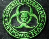 Zombie Outbreak Response Team Patch Green Black Walking Dead Cosplay