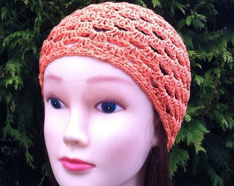 V's Spring Beanie in Orange - Adult Regular