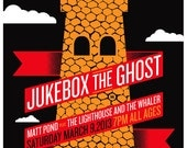 Screenprint Poster for Jukebox The Ghost - Hand Pulled Print Rock Poster