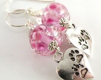 Cremains Loving Pet Memorial Beads - Custom Handmade Lampwork Glass Earrings - You Pick the Colours - SRA